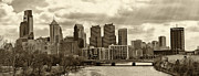 Philadelphia Skyline Framed Prints - Philadelphia Skyline 1 Framed Print by Jack Paolini