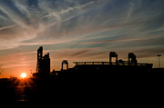 Philadelphia Phillies Stadium Digital Art Posters - Phillies Stadium at Dawn Poster by Bill Cannon