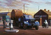 Docks Paintings - Pickfords Diamond T by Mike  Jeffries