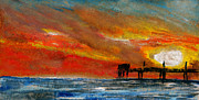 Sea Platform Prints - 1 Pier Print by R Kyllo
