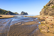 Auckland Prints - Piha Beach Textured Sand Auckland New Zealand Print by Colin and Linda McKie