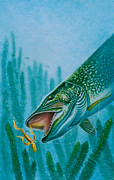 Pike And Jig Print by Jon Q Wright