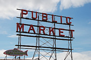 Groceries Framed Prints - Pike Place Market Framed Print by Marilyn Wilson