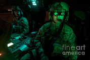 Night Hawk Prints - Pilots Equipped With Night Vision Print by Terry Moore