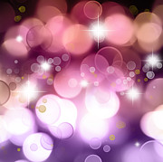 Shine Art - Pink background by Les Cunliffe