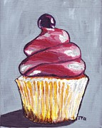Candy Paintings - Pink Cupcake by Johanna Pabst