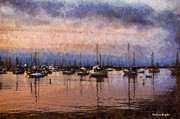 Sail Fish Prints - Pink Reflections Monterey Bay Print by Barbara Snyder