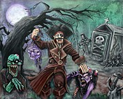 Creepy Paintings - Pirates Graveyard by Laura Barbosa