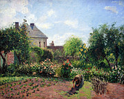 Pissarro Prints - Pissarros The Artists Garden At Eragny Print by Cora Wandel