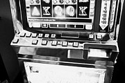 Video Gaming Framed Prints - play per line buttons on video slot gaming gambling machines Las Vegas Nevada USA Framed Print by Joe Fox