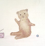 Toys Pastels - Playful Bear by Christine Corretti