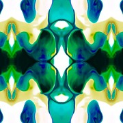 Abstract Digital Drawings Prints - Playful Print by Gayle Price Thomas