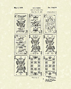 Deck Of Cards Posters - Playing Cards 1939 Patent Art Poster by Prior Art Design