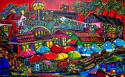 Riverwalk Paintings - Playing tourist by Patti Schermerhorn