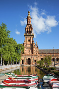 Architectural Style Prints - Plaza de Espana Tower in Seville Print by Artur Bogacki