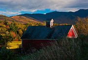 New England Village Framed Prints - Pleasant Valley Barn Framed Print by Andy Richards