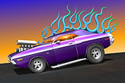 Challenger Digital Art - Plum Crazy Challenger by Stuart Swartz