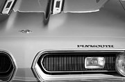 Plymouth Car Framed Prints - Plymouth Barracuda Grille Emblem Framed Print by Jill Reger