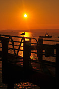 Massachusetts Plymouth Massachusetts Posters - Plymouth Harbor Sunrise Poster by Catherine Reusch  Daley