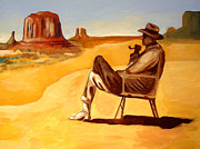 Joseph Malham Painting Metal Prints - Poet in the Desert Metal Print by Joseph Malham