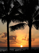Robert Lozen Metal Prints - Poipu Beach Sunset Metal Print by Robert Lozen