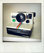 Polaroid Camera Framed Prints - Polaroid camera.  Framed Print by Les Cunliffe