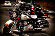Police Cruiser Framed Prints - Police Harley Framed Print by David Patterson