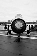 Manhatten Framed Prints - Polish air force Mig 21 PFM on display on the flight deck at the Intrepid Sea Air Space Museum Framed Print by Joe Fox
