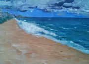 Atlantic Beaches Painting Prints - Pompano Beach Print by Laura Inniger