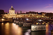 France Photos - Pont des Arts and Institut de France / Paris by Barry O Carroll