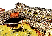 Grande Mixed Media - Ponte di Rialto by Loredana Messina