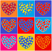 Sandy Bumblebee Metal Prints - Pop Heart Metal Print by Sandy Bumblebee