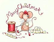 Popcorn Mouse Print by Sarah LoCascio