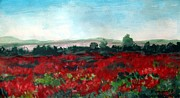Painter Mixed Media - Poppies by Venus