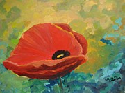 Flower Still Life Prints Posters - Poppy Poster by Stella Sherman