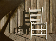 Chrome Painting Prints - Porch Chair Print by Garry McMichael