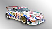 Classic Porsche 911 Photos - Porsche 911 GT2 Race Car by Tad Gage