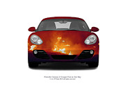 Sky Fire Originals - Porsche Cayman 2 Coupe Fire in the Sky by Jan Faul