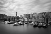Marc Huebner Acrylic Prints - Port of Hamburg Acrylic Print by Marc Huebner