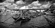 Iron Bridge Prints - Port Wine Boats in Porto City Print by Lusoimages