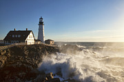 New England Lighthouse Prints - Portland Head Light Print by Eric Gendron
