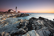 Maine Lighthouses Photo Posters - Portland Head Lighthouse Poster by Bernard Chen