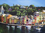 Portofino Italy Paintings - Portofino by James Scrivano