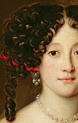 Curly Hair Prints - Portrait of a Woman Print by Jacob Ferdinand Voet