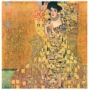 Adele Painting Metal Prints - Portrait of Adele Bloch-Bauer I Metal Print by Gustav Klimt