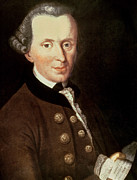 Theorist Paintings - Portrait of Emmanuel Kant by German School