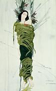 Portrait Of Ida Lvovna Rubinstein Print by Leon Bakst
