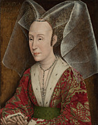 Rogier Van Der Weyden Posters - Portrait of Isabella of Portugal Poster by Workshop of Rogier van der Weyden