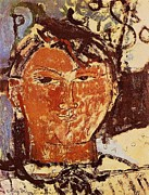 Modigliani Prints - Portrait of Picasso Print by Pg Reproductions