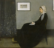 Famous Artists - Portrait of the Artists Mother by James Abbott McNeill Whistler